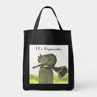 I Do Gymnastics funny Squirrel Tote Bag