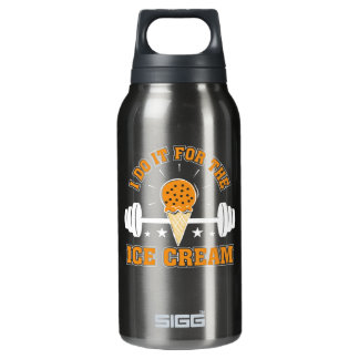 I Do It For Ice Cream Gym Ice Cream Love Insulated Water Bottle