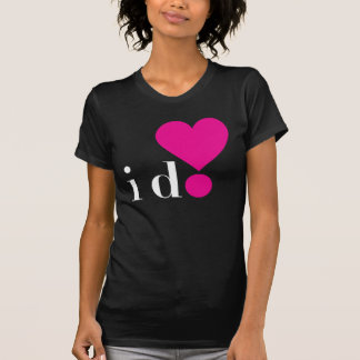 I Do! Ladies Dark Basic T-shirt