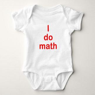 I Do Math Red Tshirt