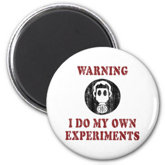 I Do My Own Experiments Vintage Grunge 6 Cm Round Magnet