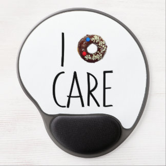 i do not care don't donut funny text message dough gel mouse pad