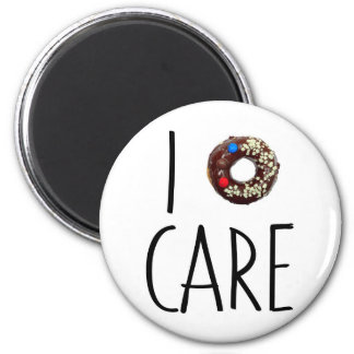 i do not care don't donut funny text message dough magnet