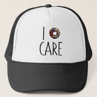 i do not care don't donut funny text message dough trucker hat