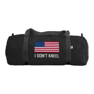 I Do Not Kneel American Flag National Anthem Gym Bag