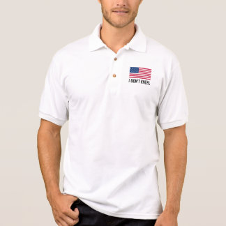 I Do Not Kneel American Flag National Anthem Polo Shirt