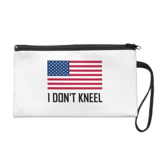 I Do Not Kneel American Flag National Anthem Wristlet