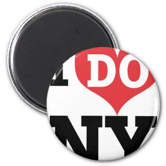 I DO NY heart 6 Cm Round Magnet