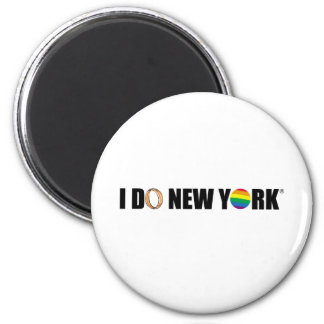 I DO NY ring 6 Cm Round Magnet