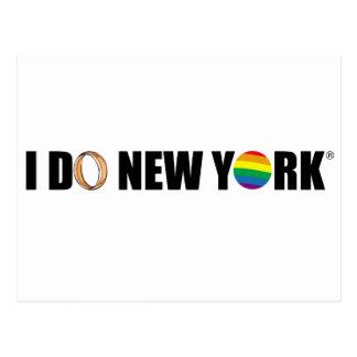I DO NY ring Postcards