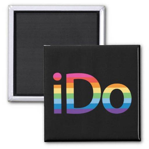 I Do Rainbow Marriage Magnet