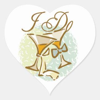 I Do Heart Stickers