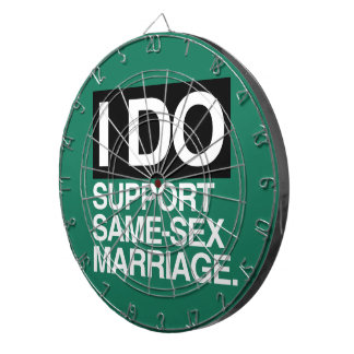 I DO SUPPORT GAY MARRIAGE - png Dartboard