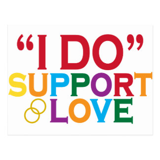 I DO support love Prop 8 Postcards