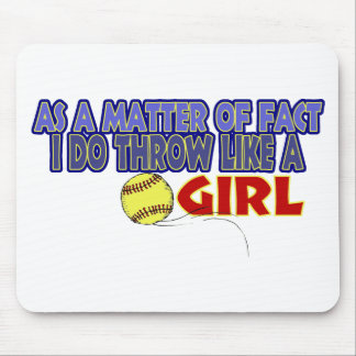 I Do Throw Like A Girl Mouse Pad