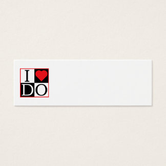 I Do Wedding Mini Business Card