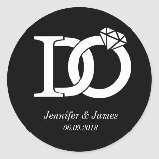 I DO wedding theme wedding sticker stickers favors