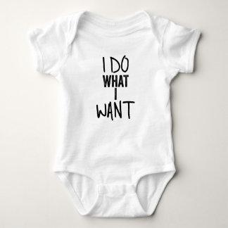 I do what I want Baby Bodysuit