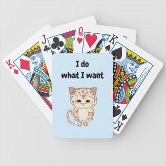 I do what I want Bicycle Playing Cards
