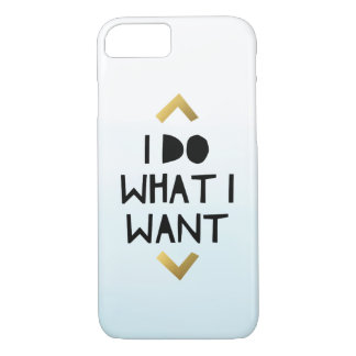 I Do What I Want Ombre Blue Phone Case