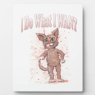I Do What I WANT Plaque