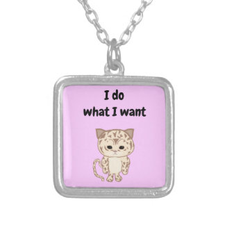 I do what I want Silver Plated Necklace