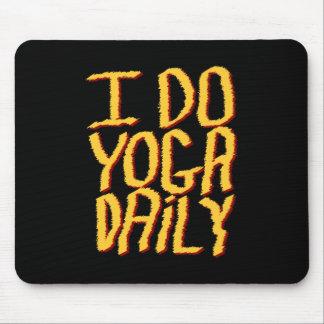 I Do Yoga Daily. Yellow and Black. Mousepad