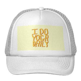 I Do Yoga Daily Yellow Mesh Hat