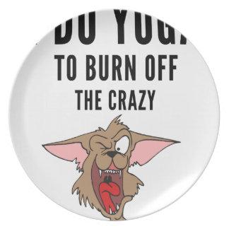I Do Yoga To Burn Of The Crazy(2) Dinner Plates