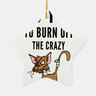 I Do Yoga To Burn Of The Crazy Ceramic Star Decoration