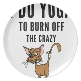 I Do Yoga To Burn Of The Crazy Plate