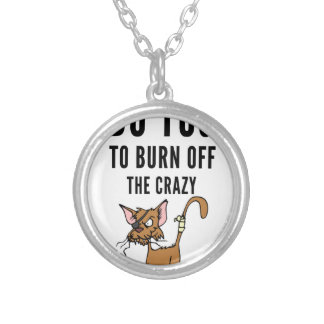 I Do Yoga To Burn Of The Crazy Silver Plated Necklace