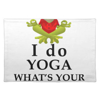 i do yoga what s your super power placemat