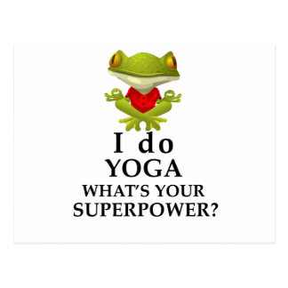 i do yoga what s your super power postcard