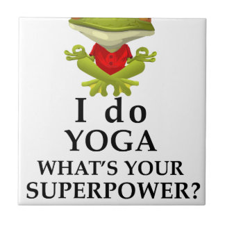 i do yoga what s your super power small square tile