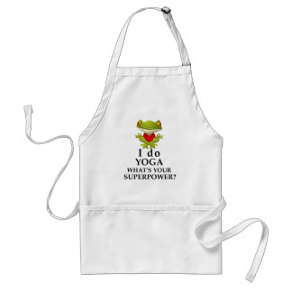 i do yoga what s your super power standard apron