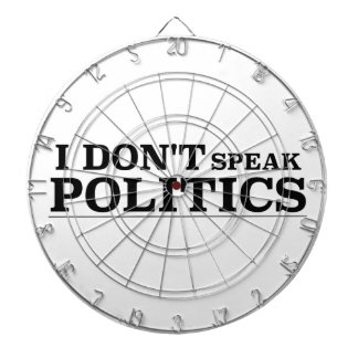 I Don't Speak Politics Dartboard