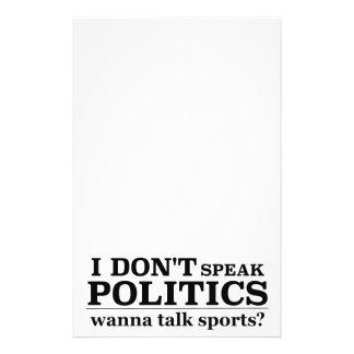 I Don't Speak Politics Wanna Talk Sports 14 Cm X 21.5 Cm Flyer
