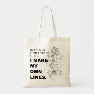 I don't adult color tote bag