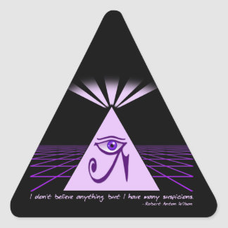 I don't believe anything, but... triangle stickers