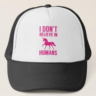 I Don't Believe In Humans Trucker Hat