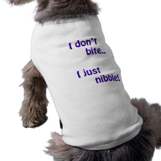 I don't bite 1 sleeveless dog shirt