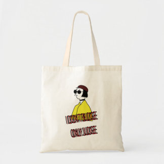 I don't budge, only judge tote bag