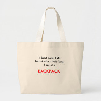 """I don't care"" bag"