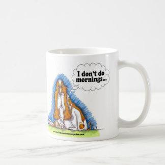 I don't do mornings coffee mug