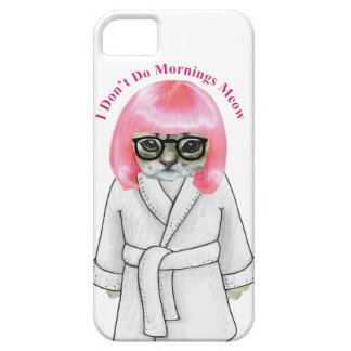 I Don't Do Mornings, Funny Grumpy Cat Picture Case For The iPhone 5