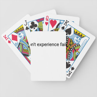 I dont experience failure bicycle playing cards