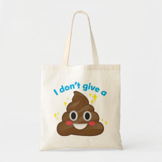 I Don't Give a Happy Poop Sparkle Emoji Tote
