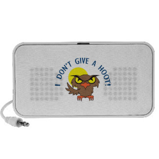 I DONT GIVE A HOOT TRAVEL SPEAKERS