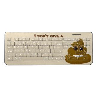 I Don't Give A Poop Emoji Wireless Keyboard